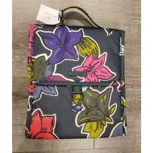 VERA BRADLEY Falling Flowers Lunch Sack